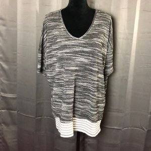 Umgee Tunic with Striped Hem